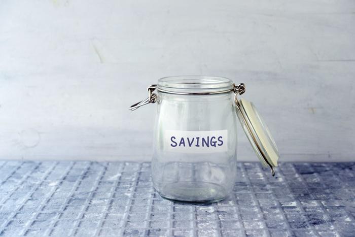 empty savings jar
