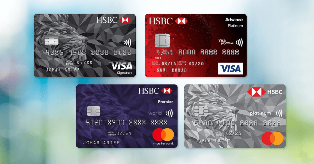 HSBC rewards redemption credit cards