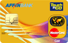 Affinbank Touch 'n Go MasterCard Gold credit card