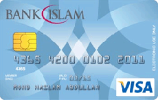 Bank Islam Debit Visa Debit Card-i credit card