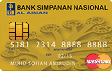 BSN Al Aiman Credit Card-i MasterCard Gold credit card