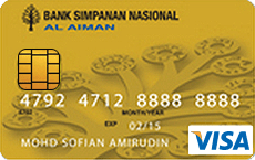 BSN Al Aiman Credit Card-i Visa Gold credit card
