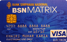 BSN Matrix Debit Card credit card