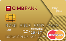 CIMB Gold MasterCard credit card
