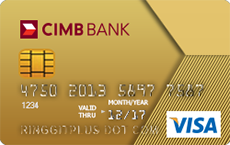CIMB Gold Visa credit card