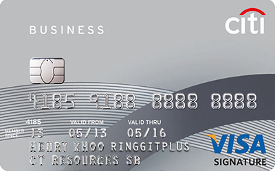 Citibank Business Signature Card 0 8% Cashback on Everything
