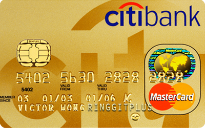 Citibank Gold MasterCard credit card Frompo