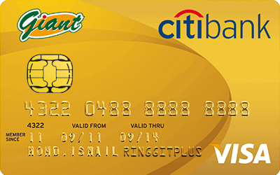 Giant Citibank Credit Card credit card