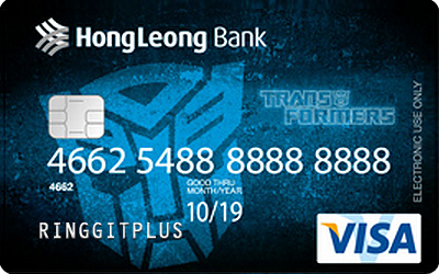 Hong Leong Bank Transformers Debit Card credit card