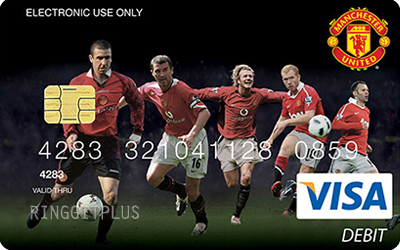 Maybankard Manchester United Visa Debit Card credit card
