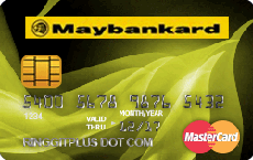 Maybankard MasterCard Gold Debit Card credit card