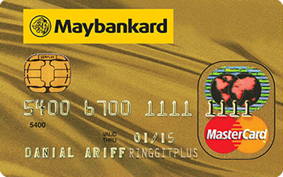 Maybankard MasterCard Gold credit card