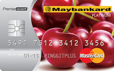 Maybankard MasterCard Platinum Debit Card credit card