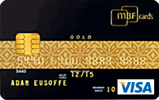 MBF Gold Visa credit card