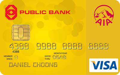 Public Bank AIA Visa Gold credit card