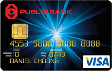 Public Bank Classic Visa credit card