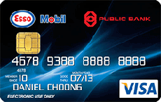 Public Bank Esso Mobil Visa Debit Card credit card