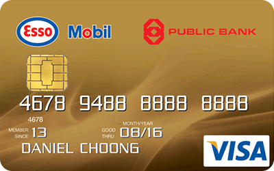 Public Bank Esso Mobil Visa Gold credit card