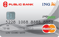 Public Bank ING Credit Mastercard PayPass Card credit card