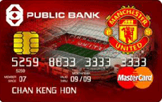 Public Bank Manchester United Debit Card credit card