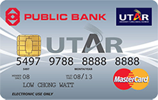 Public Bank UTAR Debit MasterCard credit card