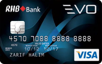 RHB EVO Visa credit card
