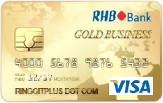 RHB Gold Business Visa credit card