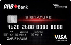 RHB Visa Signature credit card