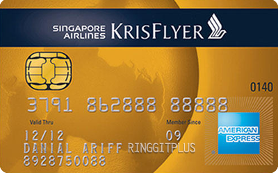 Singapore Airlines KrisFlyer American Express Gold credit card