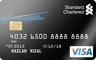 Standard Chartered Visa Translucent credit card