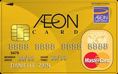 AEON MasterCard Gold credit card