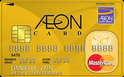 New AEON MasterCard Gold credit card