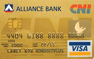 Alliance Bank CNI Gold Card credit card