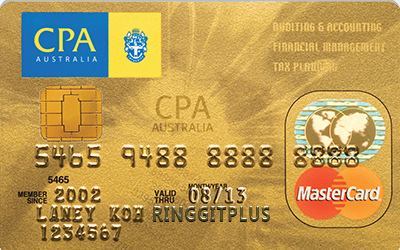 Alliance Bank CPA Australia MasterCard credit card