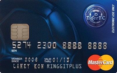 Alliance Tiger FC MasterCard credit card
