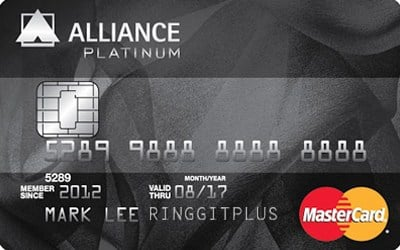 Alliance Bank MasterCard Platinum credit card