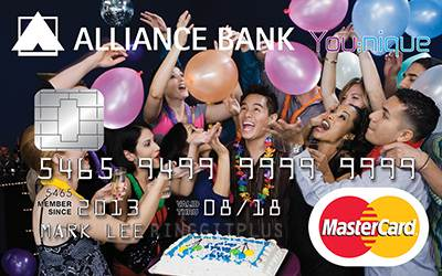 Alliance Bank You:nique - Great Rewards credit card