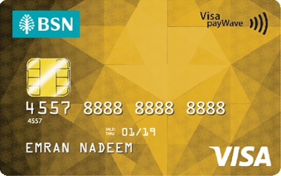 BSN Gold Visa credit card