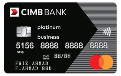 Cimb Platinum Businesscard For The Professional