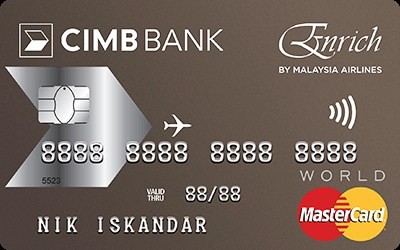 CIMB Enrich World MasterCard credit card