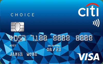 Citibank Choice Visa credit card