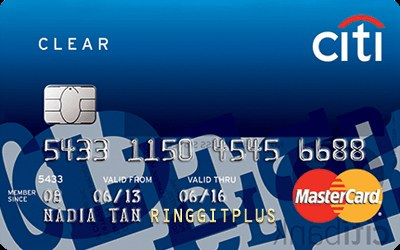 Citibank Clear MasterCard credit card