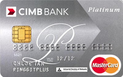CIMB Direct Access Actuarial Society of Malaysia (ASM) Platinum MasterCard credit card