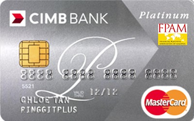 CIMB Direct Access Financial Planning Association of Malaysia (FPAM) Platinum MasterCard credit card