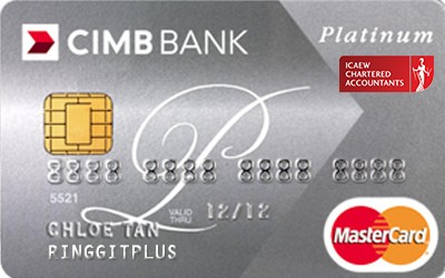 CIMB Direct Access Institute of Chartered Accountants England and Wales (ICAEW) Platinum MasterCard credit card