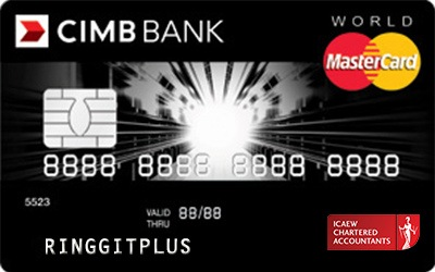 CIMB Direct Access Institute of Chartered Accountants England and Wales (ICAEW) World MasterCard credit card