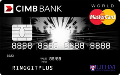 CIMB Direct Access Universiti Tun Hussein Onn Malaysia Alumni Association (UTHMa) World MasterCard credit card