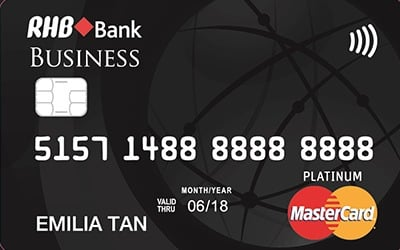 RHB Platinum Business MasterCard credit card