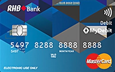 RHB Cash Connect Debit MasterCard credit card