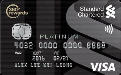 Standard Chartered Visa Platinum credit card